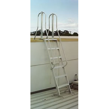 Aluminium Roof Access Ladder - Tall Side