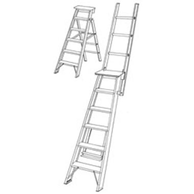 C Kennett DP Aluminium Dual Purpose Ladder 130Kg