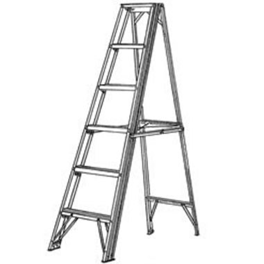 Step Ladders - FIBREGLASS 150 KG - C Kennett FGSL