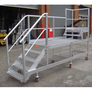 Custom Dual Height Mobile Stair Platform