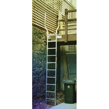 Fixed Access Ladder with Walk-Thru Handrails