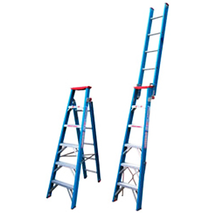 Indalex PRODPF 150Kg Fibreglass Dual Purpose Ladder