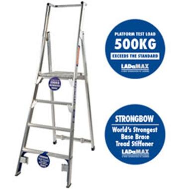 Platform Ladders - Aluminium-150 KG-Ladamax PS