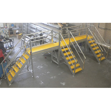 Large Custom Multi-Access Platform with Anti-Slip