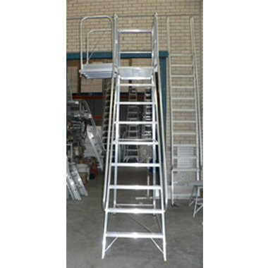 Mobile Aluminium Ladder Platform with Side Drawbridge