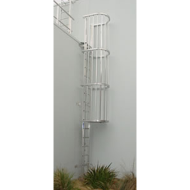 Vertical Caged Ladders