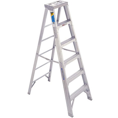 Step Ladders Aluminium Double Sided 150 Kg Werner