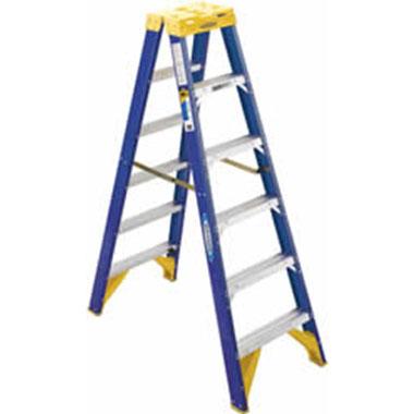 Step Ladders - FIBREGLASS DOUBLE SIDED 150 KG - Werner T6300AZ