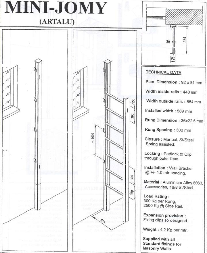 Jomy Mini Artalu Emergency Escape Ladder