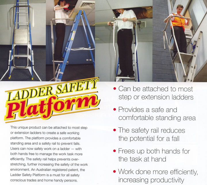 LADDER SAFETY PLATFORM